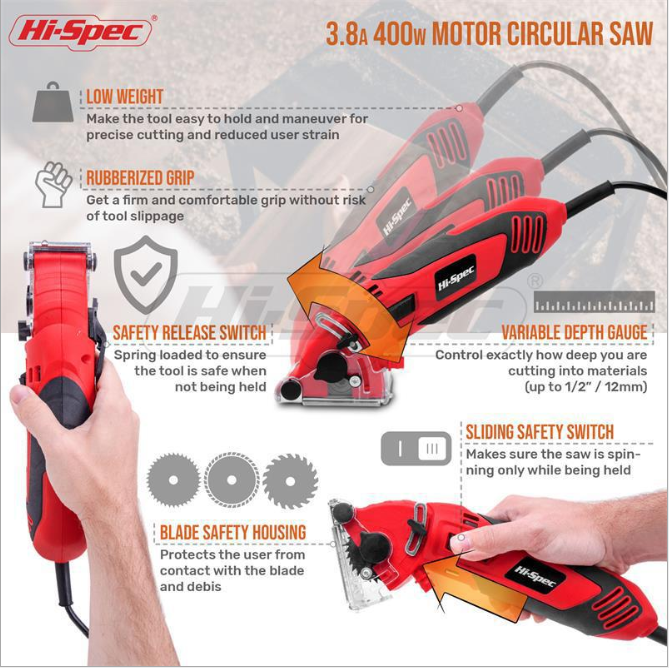 A dust-free electric saw reduces noise and recycles cutting dust-Multi-function Circular Saw