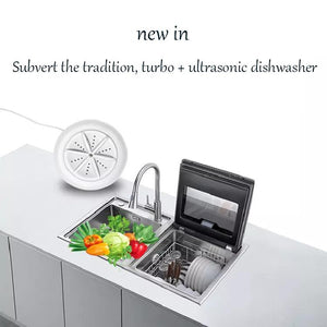 Portable ultrasonic washing machines(Suitable for bowls, clothes, glasses, fruits, vegetables and tea sets)