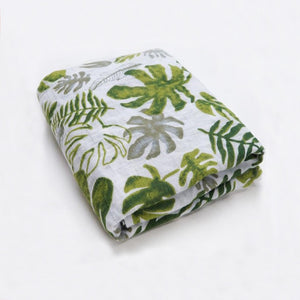 Muslin Blanket Palm Leaves - Little Bump Company