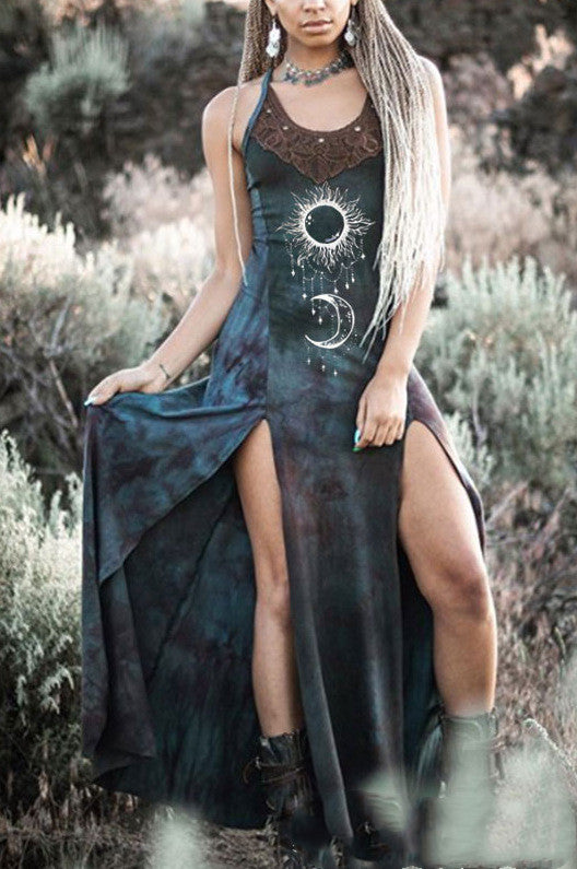 New Vintage Women Dress Gothic Medieval Cosplay V-neck Costumes Halloween Renaissance Victoria Middle Ages Clothing
