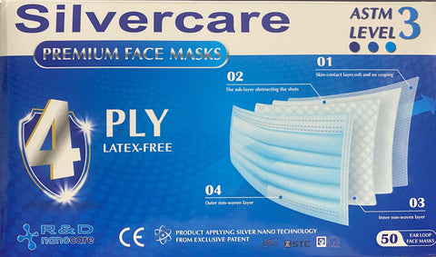 ASTM Level 3 Premium Surgical Masks - Box of 50 masks - IN STOCK!!!
