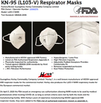 KN95 RESPIRATOR MASKS FDA CERTIFIED - PACK OF 2 ($2.50/mask)