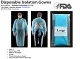 CPE Disposable Isolation Gowns - Pack of 100 ($1.75 per Gown)