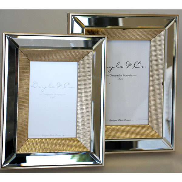 Mirror and Gold Dot Frame