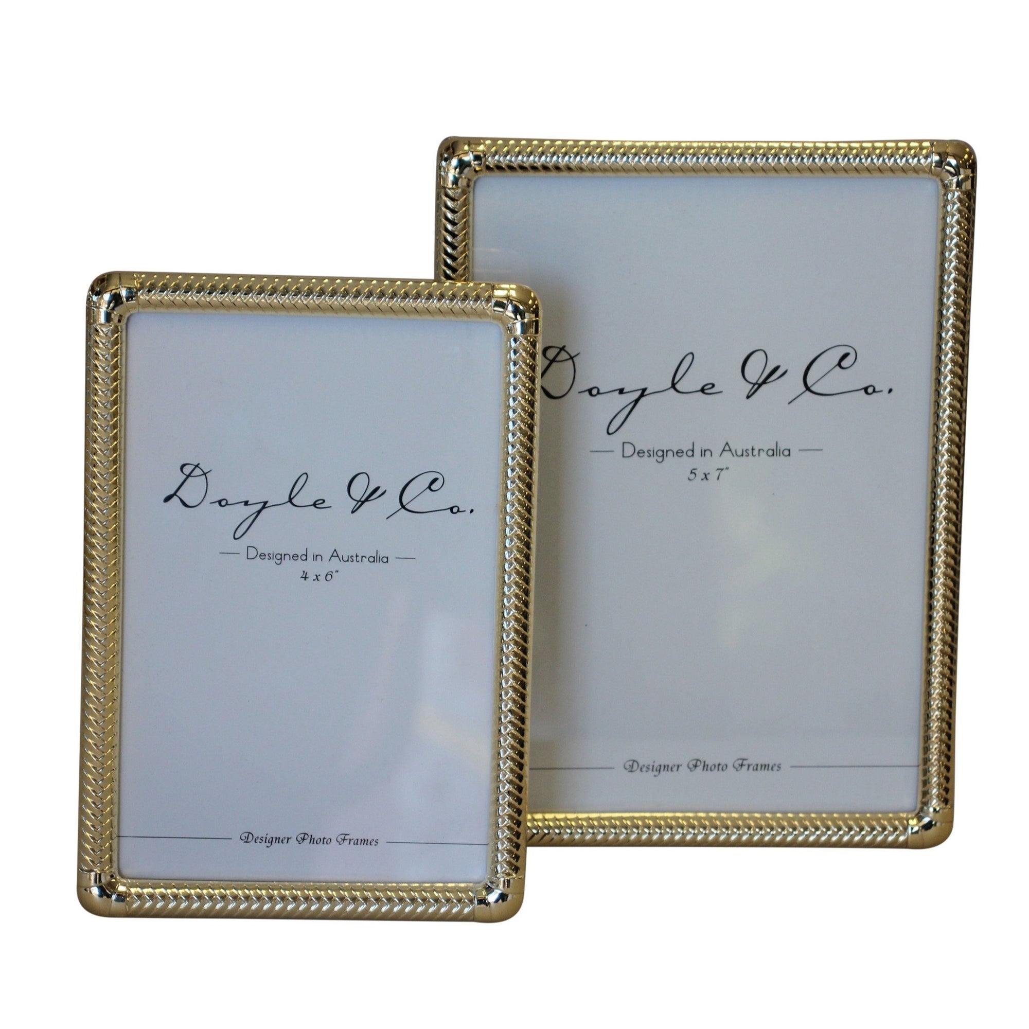 Bancroft Gold Weave Edge Frame - Large