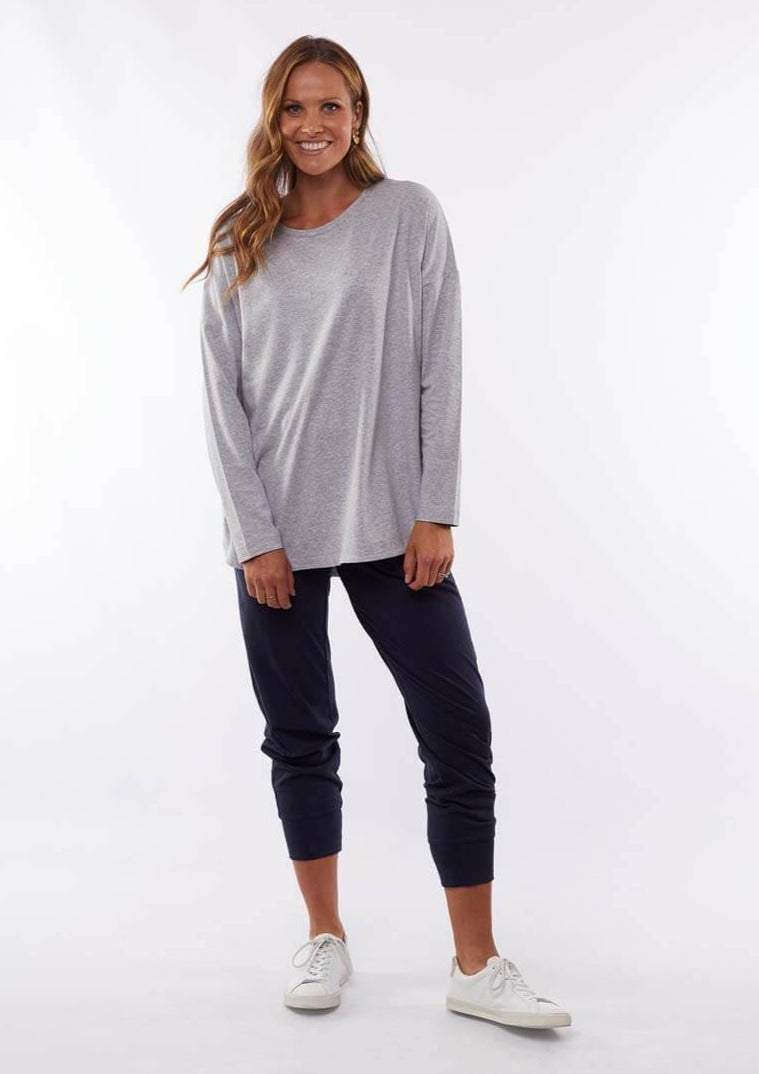 Society Long Sleeve Tee - Grey Marle