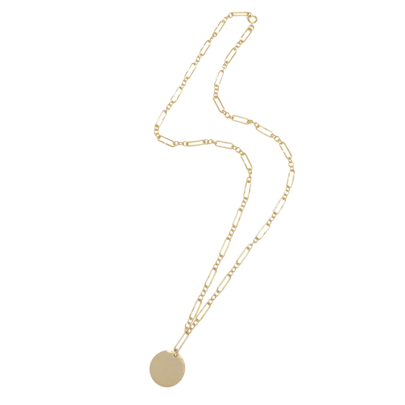 Anabelle Disc Necklace - Gold, Silver