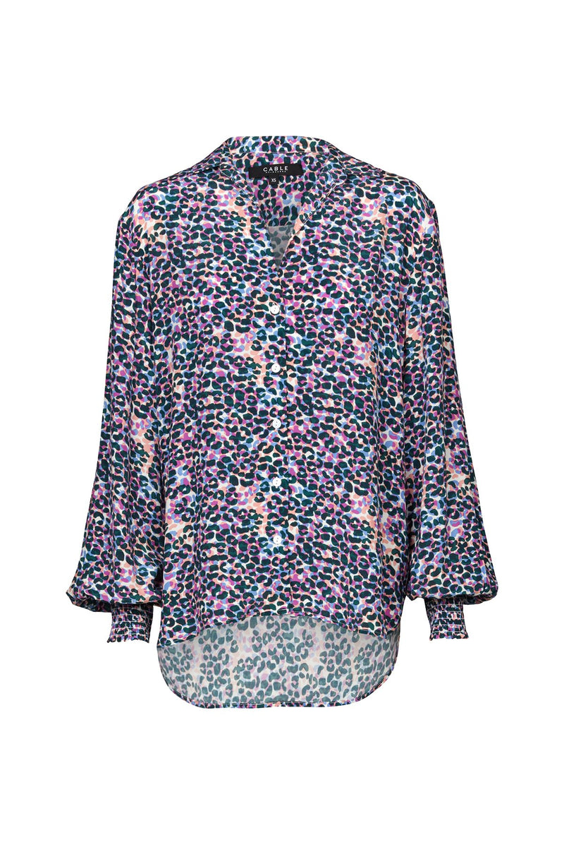 Amalie Relaxed Button Blouse - Confetti