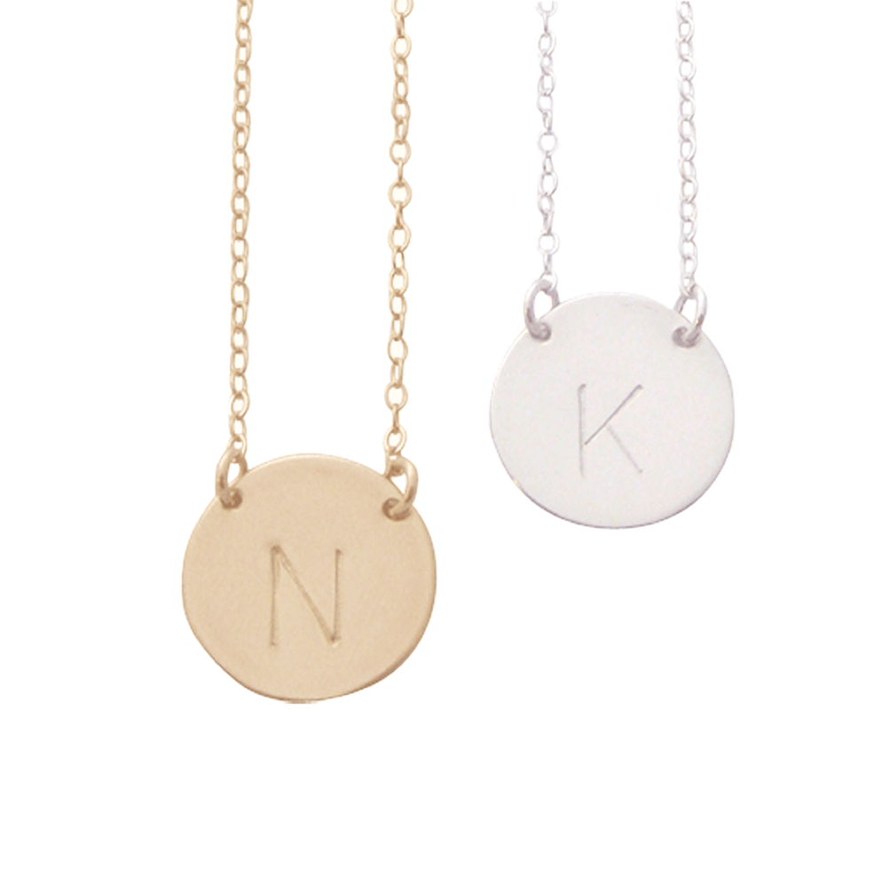 The Chloe Initial Necklace - Silver, Gold