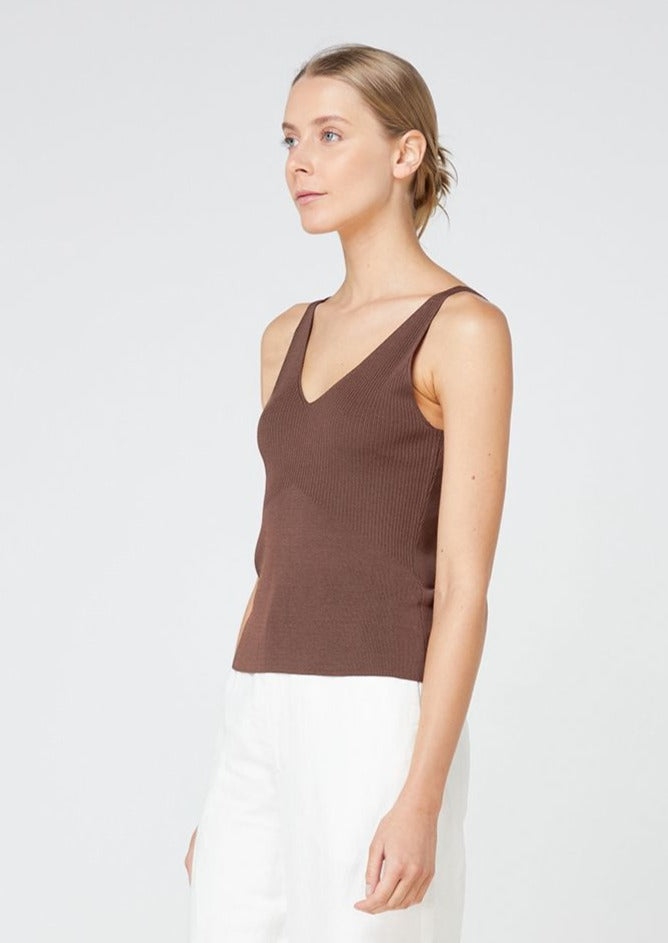 Lyon Knit Top - Chocolate
