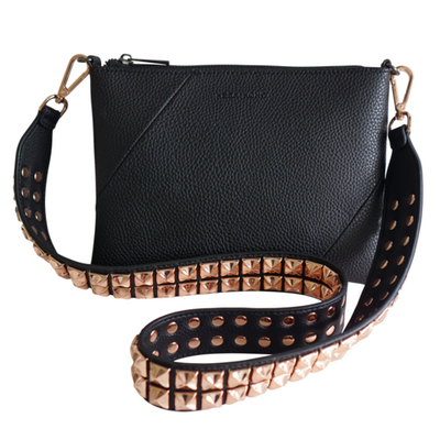 DALIA Long Rose Gold Studded Bag Strap