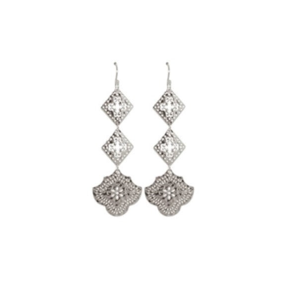 Goddess Hanging Earrings - Silver