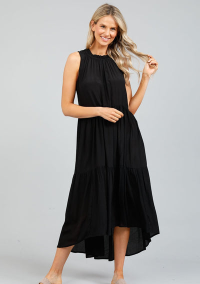 Margot Dress - Black Moss Crepe