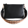 DALIA Mid Length Rose Gold Studded Bag Strap