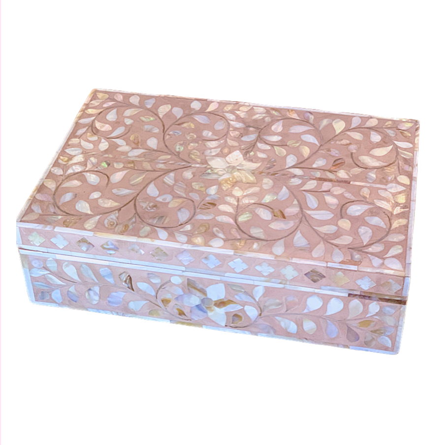Mother of Pearl Inlay Box - Blush