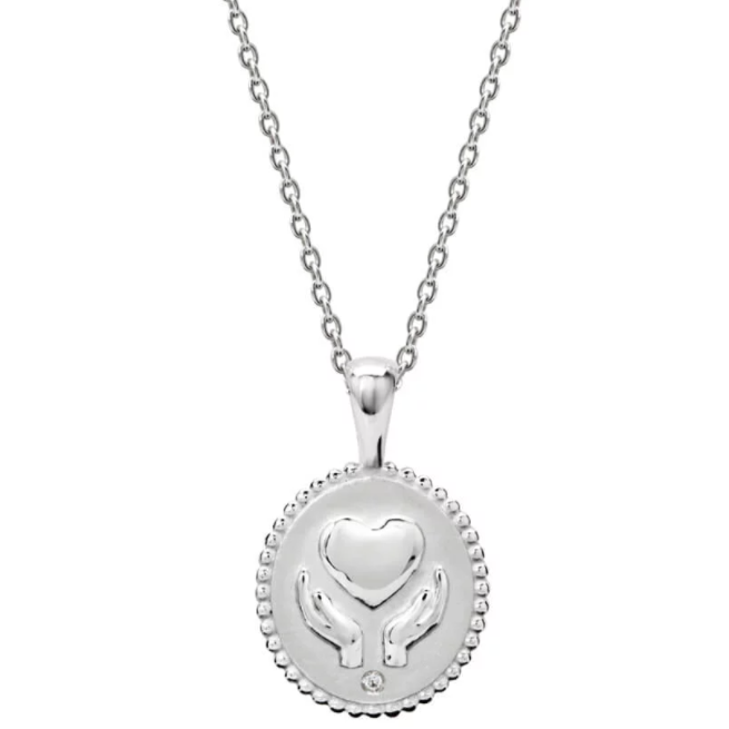 Healing Hands Necklace - Silver