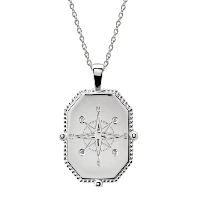 Compass Necklace - Silver