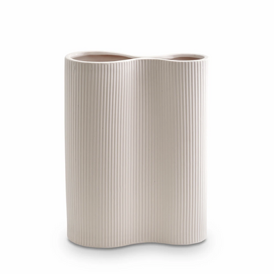 Ribbed Infinity Vase - Nude (M)