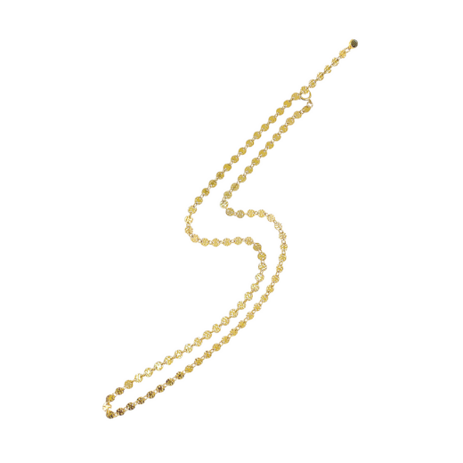 Emery disk chain necklace - Gold