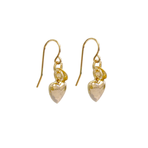 Lizzy heart earrings - Gold
