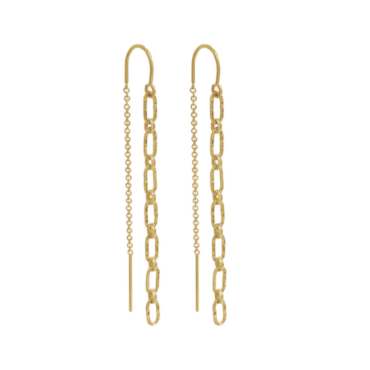 Mezi chain thread earring - Gold