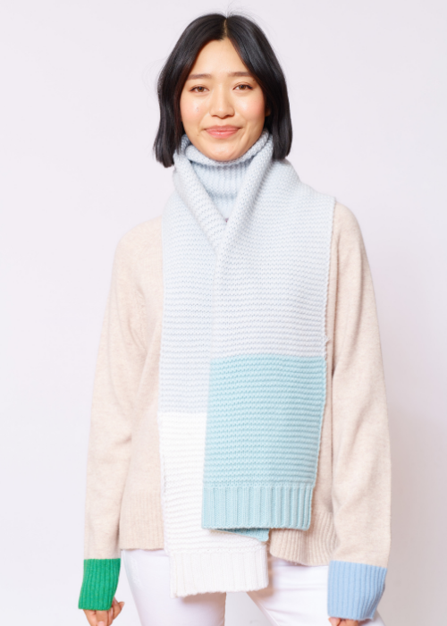gemini Scarf - ice blue