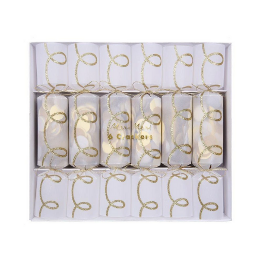 Gold Twist Confetti Crackers Small