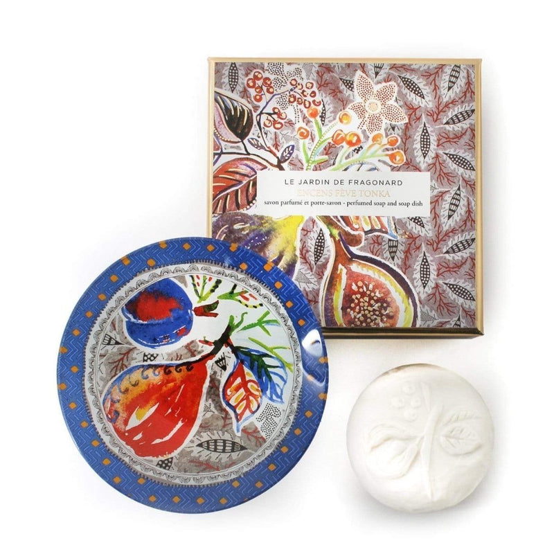 Fragonard Soap and Dish Set - Encens Fève Tonka