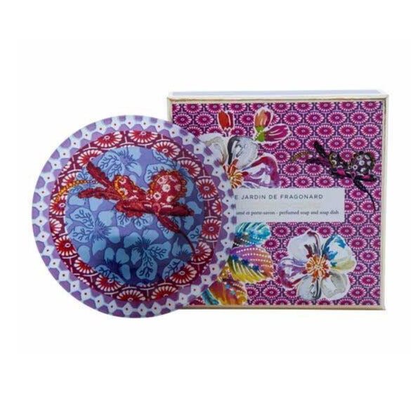 Fragonard Soap & Dish Set - Heliotrope