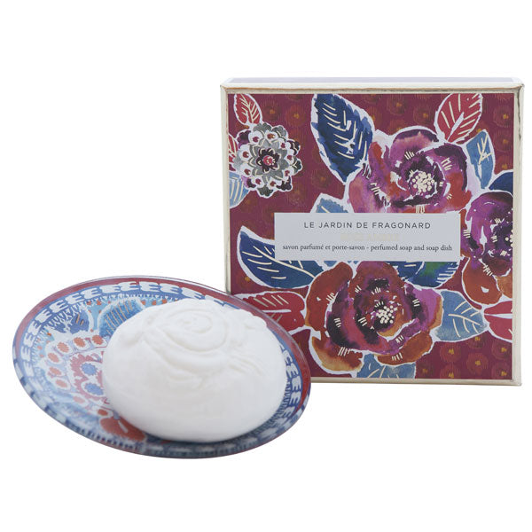 Fragonard Soap & Dish Set - Rose Ambre