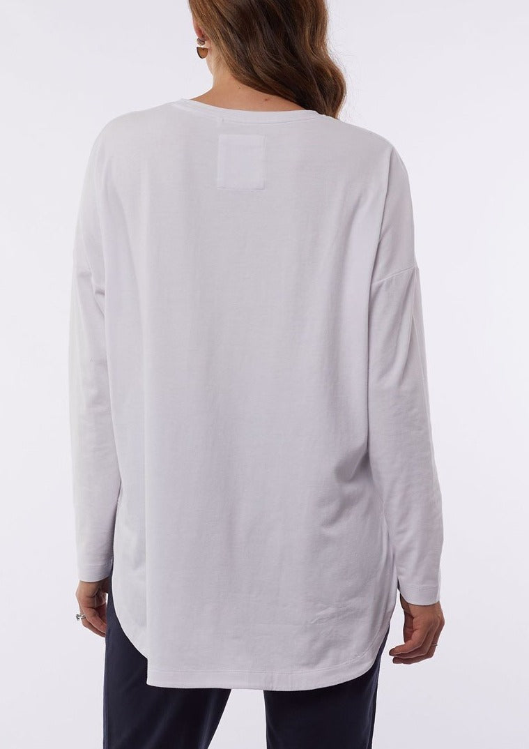 Society Long Sleeve Tee - White