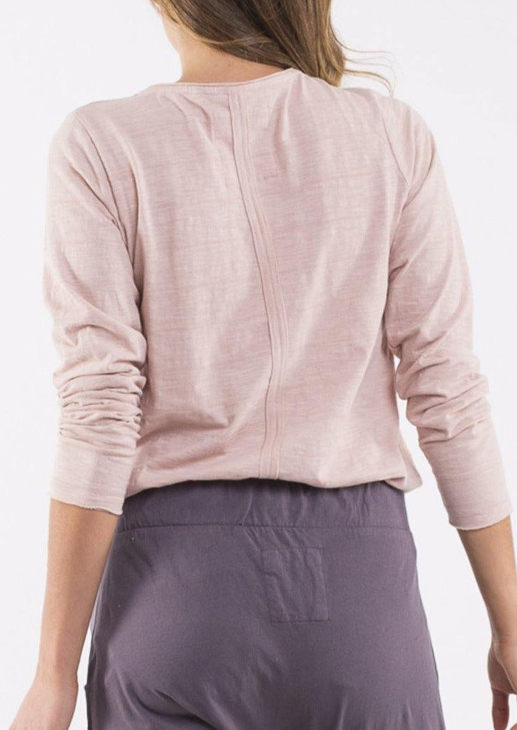 Coles Bay Long Sleeve Henley - Pink