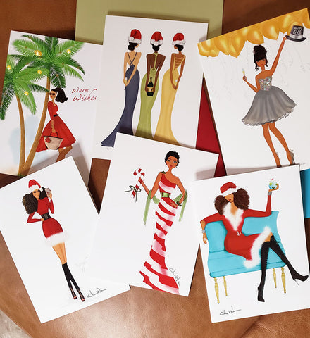 African American Christmas Holiday Greeting Cards