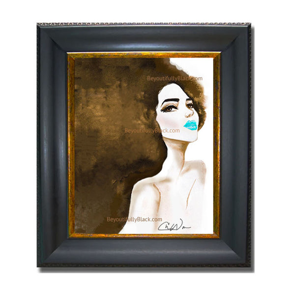 Limited Edition Blue Kiss Art Print