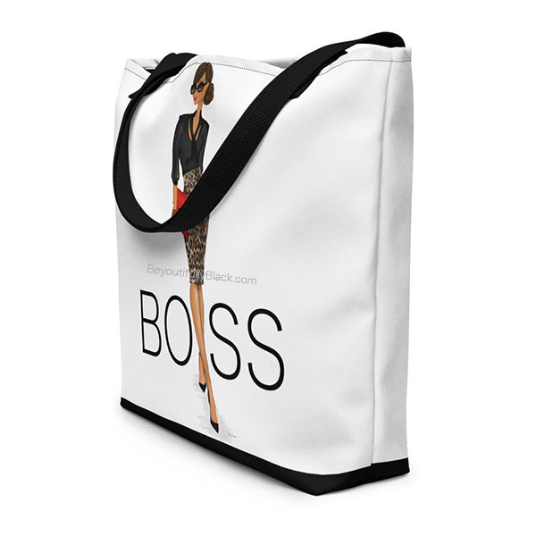 African American Boss Lady Everything Tote Bag Side