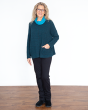 "Load image into Gallery viewer, Cut Loose ""Contrast Cowl Neck Top"""