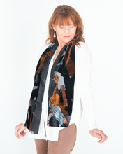 "Load image into Gallery viewer, Dana Herbert ""Velvet Burnout Scarf"""