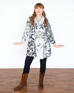 "Et Lois ""Julia Cowl Tunic Jacket Top"""
