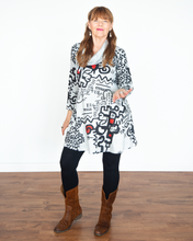 "Load image into Gallery viewer, Et Lois ""Julia Cowl Tunic Jacket Top"""