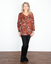 "Load image into Gallery viewer, Habitat ""Spiced Floral Swing Tunic Top"""
