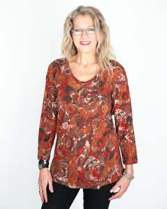"Habitat ""Spiced Floral Swing Tunic Top"""