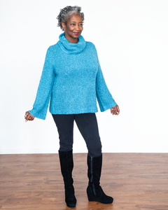 "River ""Cowl Neck Pull Over Sweater"""