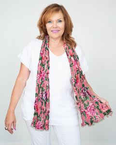 "Little Journeys ""Tea Rose Scarf"""