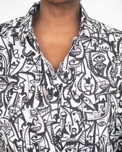 "Load image into Gallery viewer, Shana ""Mixed Print Blouse Top"""