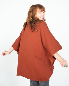 "XCVI Wearables ""Paige Poncho Sweater Top"""