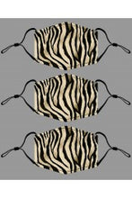 "Load image into Gallery viewer, JC Sunny ""Black & Brown Zebra Print Mask"""
