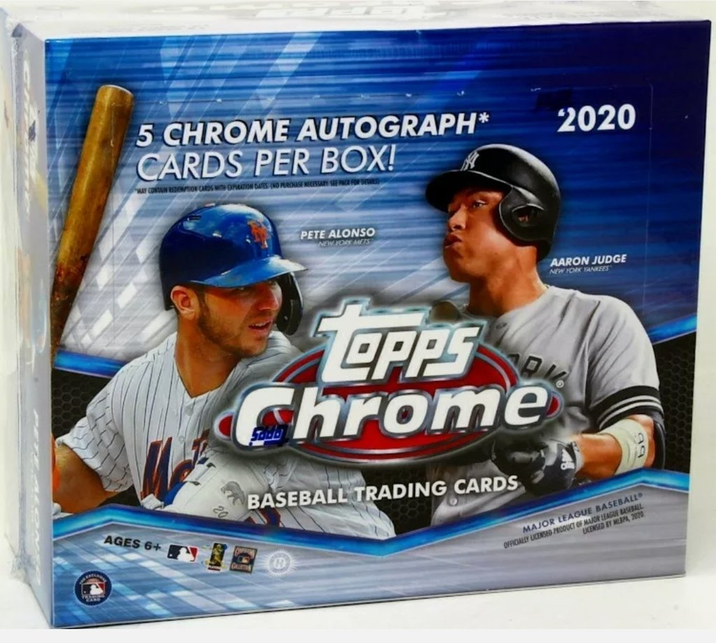10 spots $47 per top 5 get 1 random team in 6084 - 2020 TOPPS CHROME JUMBO CASE BREAK