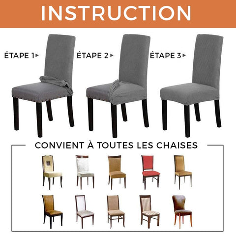 HOUSSE DE CHAISE - MARRON