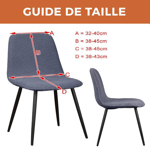 HOUSSE DE CHAISE SCANDINAVE VELOURS - SAHARA