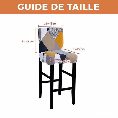HOUSSE DE CHAISE BAR <br/> BOURGEON BLEU